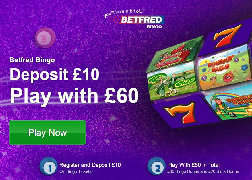 Deposit £10, Play with £60