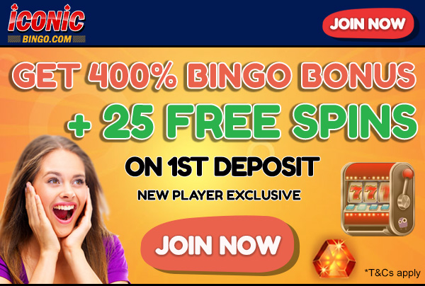 Most Popular Bingo Sites - Iconic Bingo