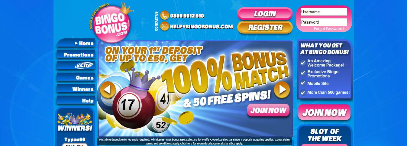 online bingo with bonus