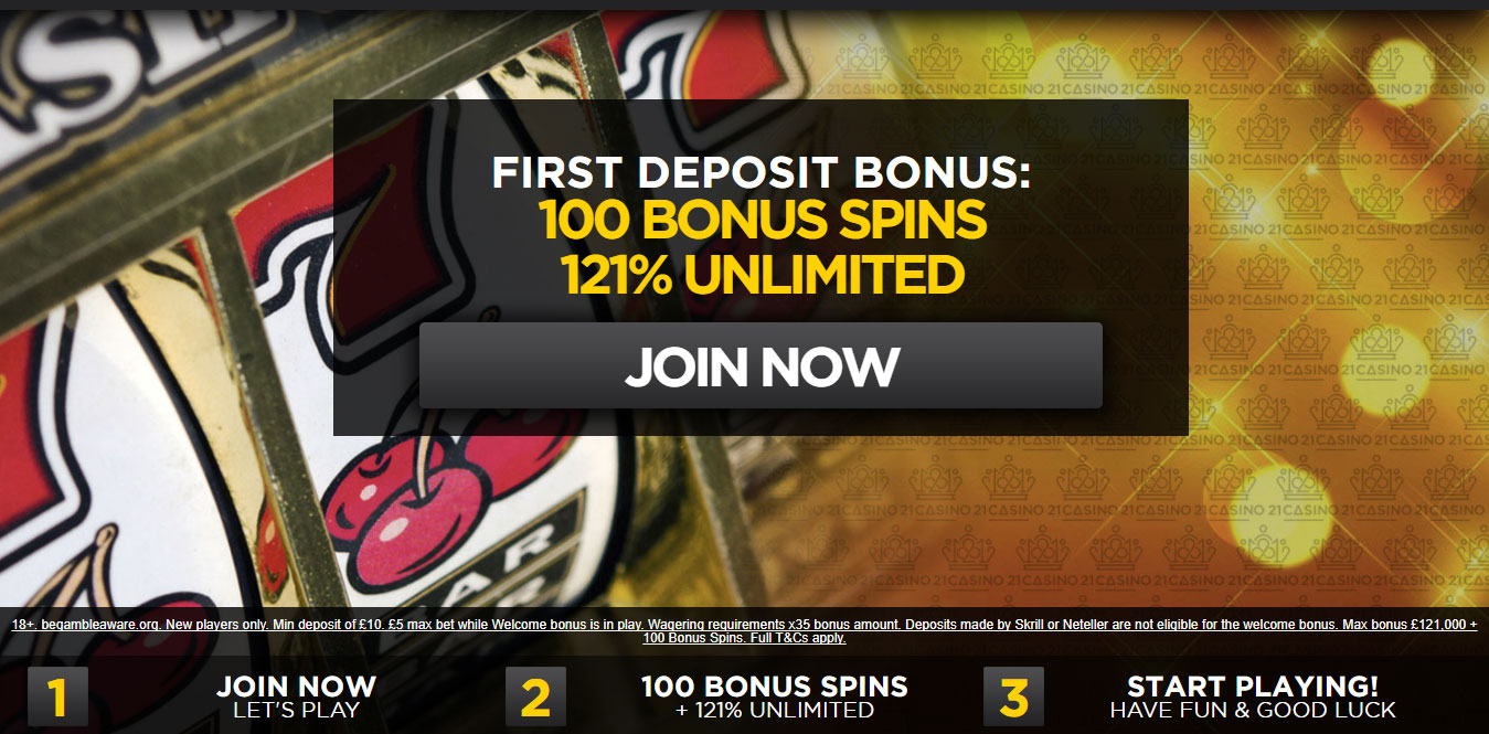 21 casino 10 pound free
